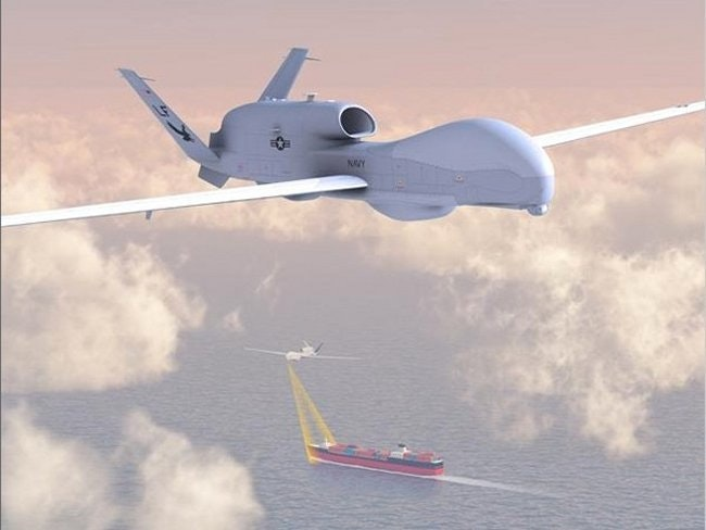 The Northrop Grumman MQ-4C Triton is an unmanned aerial vehicle under development for the United States Navy as a surveillance aircraft.
